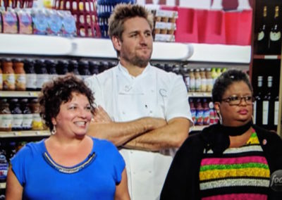 Sharon with Chef Curtis Stone on Guy's Grocery Games