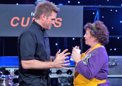 Sharon with Mentor Chef Curtis Stone on All-Star Academy