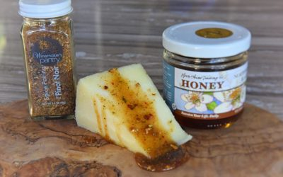 Sweet & Smoky Honey Drizzle for Cheese
